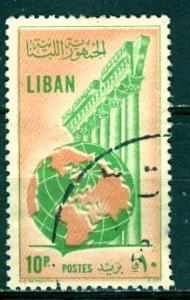 Lebanon; 1955: Sc. # 301: O/Used Single Stamp