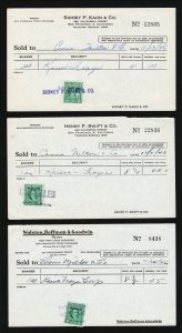 US REVENUE 1946 #RD212/RD213 - 5¢ & 10¢ STOCK TRANSFER ON BROKERAGE RECEIPTS