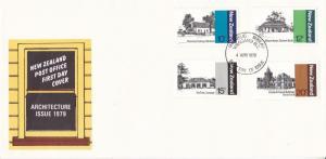 New Zealand 1979 Architecture FDC Unadressed VGC
