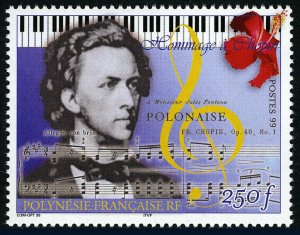 French Polynesia 762, MNH. Frederic Chopin, Composer, 1999