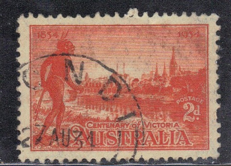 AUSTRALIA SC# 142 USED 2p 1934  CENTENARY OF VICTORIA  SEE SCAN