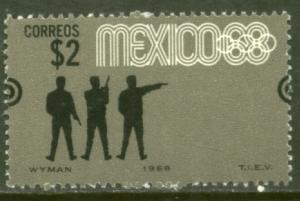MEXICO 995, $2P Pistol Shoot 4th Pre-Olympic Set MNH