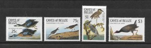 BIRDS - CAYES OF BELIZE #22-25  MNH