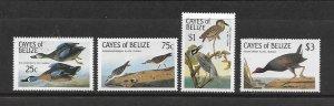 BIRDS - CAYES OF BELIZE #22-25  MNH