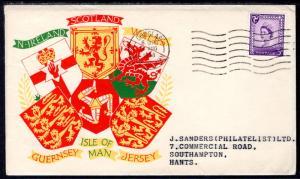 Isle of Man 1 Typed FDC
