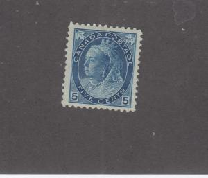 CANADA # 79 VF-MLH/MH? 5cts DARK BLUE NUMERAL ISSUE CAT VALUE $300