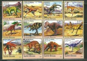 Guinea-Bissau MNH Set Of 9 Dinosaurs 2001