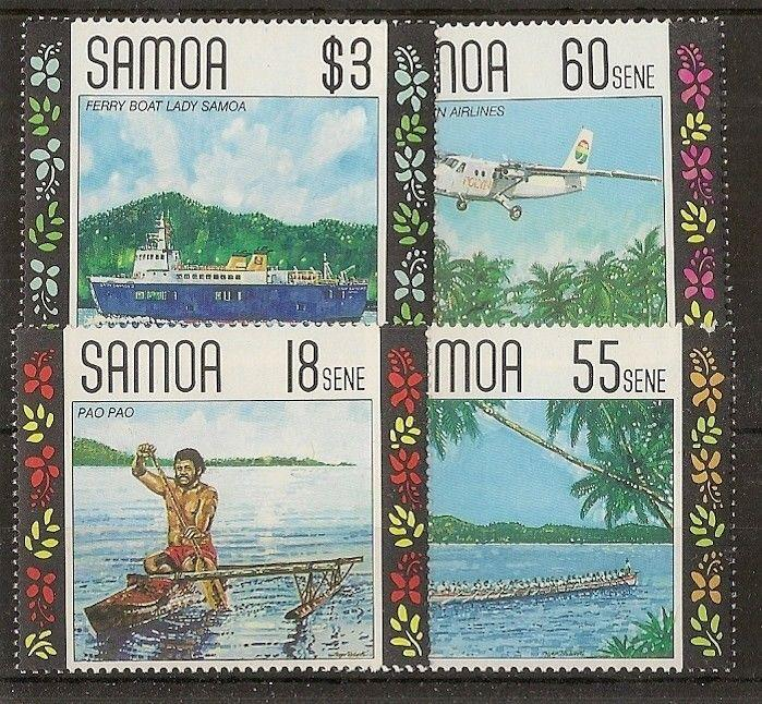 Samoa 1990 Local Transport SG840-843 MNH