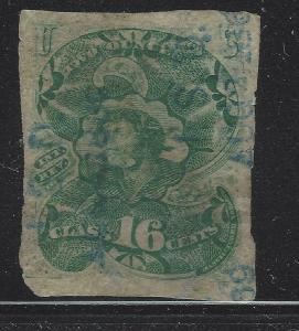 VEGAS - 1868 USA 2 Ounce OZ Tobacco - 16 c - Revenue Stamp - TF1 Scarce - (DC4)