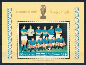 [94344] Manama Ajman 1968 Sport Football Soccer Italy Sheet MNH