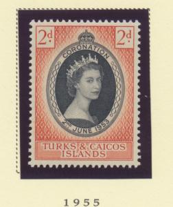 Turks and Caicos islands Scott #118, Queen Elizabeth II Coronation, British C...