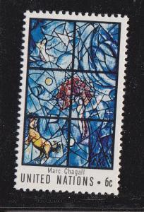 UN - NY # 180, Chagall Window , Mint NH, 1/2 Cat.