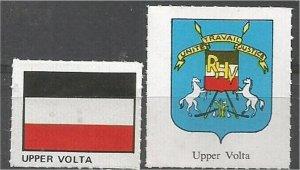 UPPER VOLTA. mint, Flag and Coat of Arms (no gum)