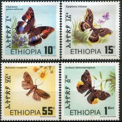ETHIOPIA 1983 - Scott# 1080-3 Butterflies Set of 4 LH