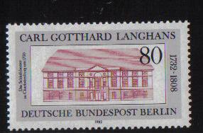 Germany  Berlin 1982  MNH  Carl Gotthard Langhans complete