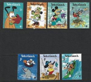 TURKS & CAICOS Scott #399-405 Mint NH Intl Year Child Disney  2017 CV $1.75