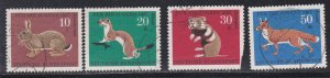 Germany # B422-524, Animals, one stamp Damaged, Used, 1/3 Cat.