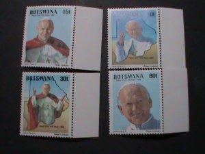 BOTSWANA STAMP 1988 SC#440-3 JOHN PAUL II  MNH STAMP SET. RARE; HARD TO FIND. MO