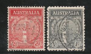 AUSTRALIA 1935 ANZAC SET