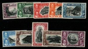ST.HELENA SG114/23 1934 CENTENARY SET MTD MINT