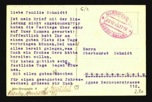 Germany 1945 Nurnberg Stampless Postcard - Z17136