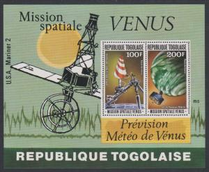 Togo Space Mission 'Venus' MS 1978 MNH SG#MS1287