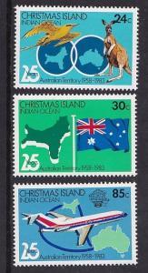Christmas Island   #142-144  MNH  1983  anniv Australian territory  Boeing 727