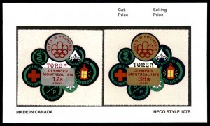 1976 Tonga  Complete Set #372-376, C189-193, CO105-107 MNH OLYMPICS
