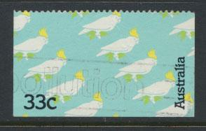 Australia SG 971 Used  left, right & bottom margins imperf