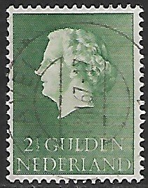 Netherlands # 362 - Queen Juliana 2,50 Gld - used....(P5)