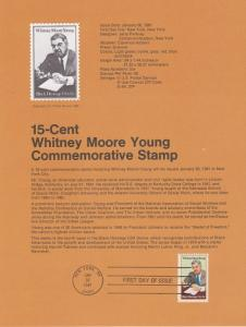 US SP530 Whitney M. Young Souvenir Page #1875