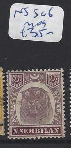 MALAYA  NEGRI SEMBILAN   (PP2507B)  2C TIGER SG 6   MOG
