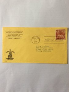 1948 Fort Bliss Centennial 3c First day cover. El Paso post mark to Fresno.