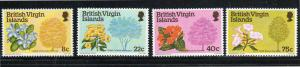 VIRGIN ISLANDS #338-341  1978  FLOWERING TREES   MINT VF NH O.G