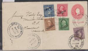 O) 1899 PHILIPPINES, US OCCUPATION UN PHILIPPINES, LINCOLN, JEFFERSON, ULYSSES,