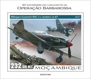 Mozambique 2021 MNH Military Stamps WWII WW2 Operation Barbarossa 1v S/S IV