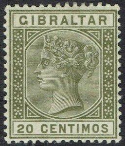 GIBRALTAR 1889 QV 20C