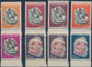 Paraguay stamp Space Research margin set MNH 1963 Mi 1176-1183 WS201078