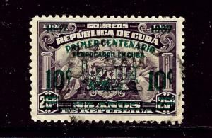 Cuba 355 Used 1937 Surcharge and overprint