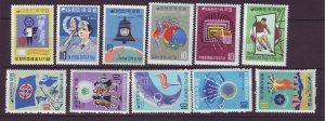 J24498 JLstamps south korea mnh #712,725,734,747,750-4,796