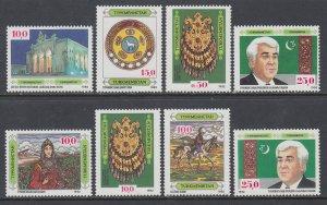 Turkmenistan 1-8 MNH VF
