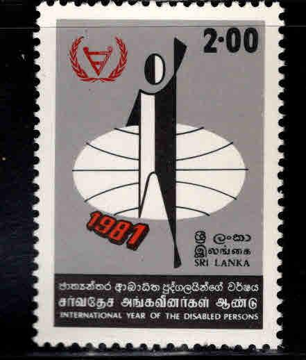 Sri Lanka Scott 610 MNH** 1981 Disabled stamp