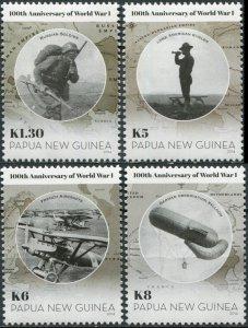 Papua New Guinea. 2014. 100th Anniversary of Start of World War I (MNH OG) Set
