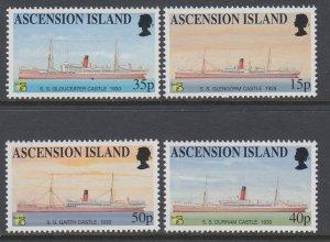 Ascension 720-723 Ships MNH VF