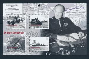 [81168] Gibraltar 2004 Second World war D-day Landings Eisenhower Sheet MNH