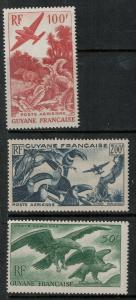 French Guiana 1947 C18-C20 MNH SCV $68.00 Set