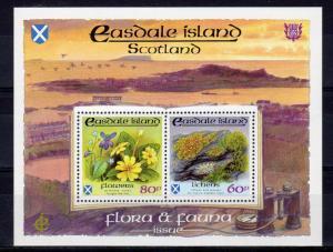 Easdale Island (Scotland) 1991 Lichens/Flowers  Compound S/S MNH