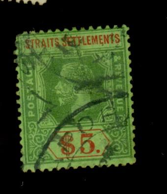 Strait Settlements #167 Used Fine Crease Cat$85