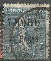 FRANCE, Offices in TURKEY, 1921, used 7pi20pa on 50c, Scott 46