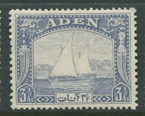 ADEN - Scott 7 - Definitive Issue - 1937 - MVLH - Single 3.1/2a Stamp